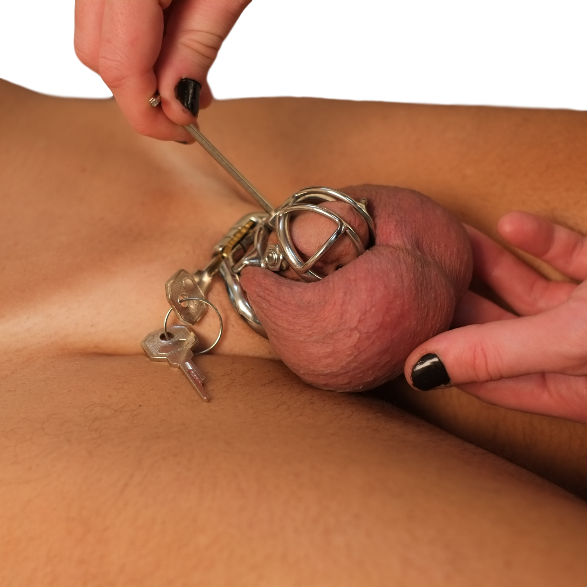 Cage chastity