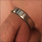 Narrow Stainless Steel Cock Ring