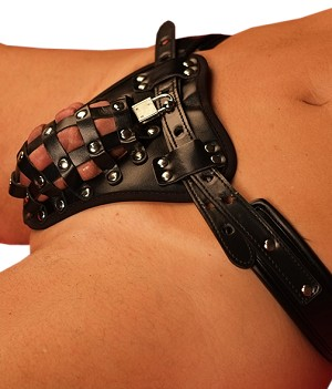 Leather Dog Male Chastity Belt